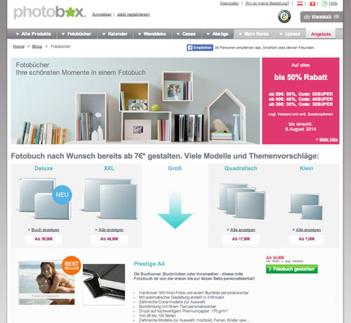 Photobox Fotobuch Anbieter