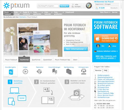 pixum Fotobuch Anbieter